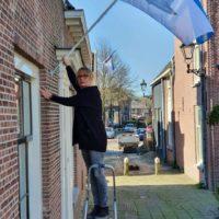 Zwammerdamvlag uitgehangen als hart onder de riem