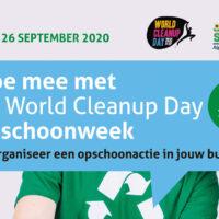 Doe mee met de World Clean up Day Opschoonweek