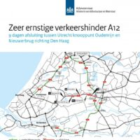 Afsluitingen en omleidingen A12 tussen 27 september en 7 oktober